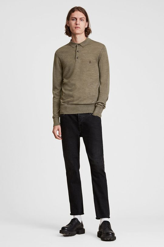 AllSaints - Sweter wełniany 100 % Wełna merynosów