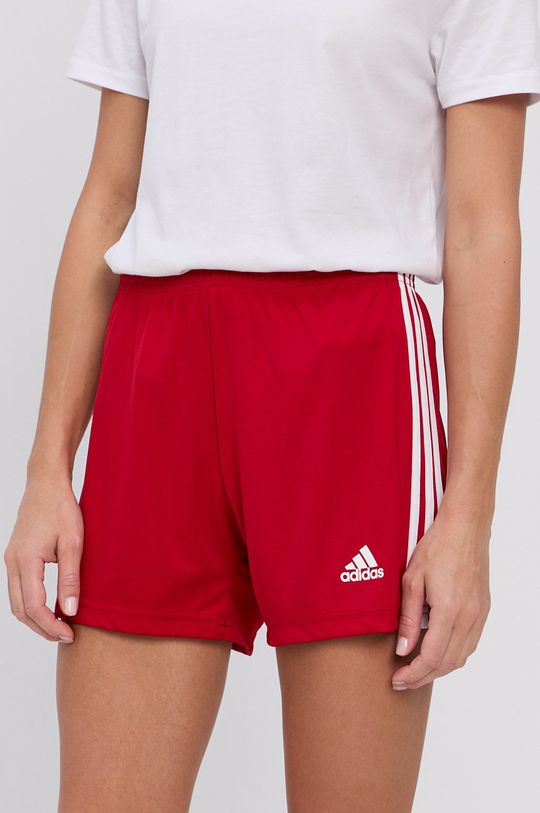 czerwony adidas Performance - Szorty Damski
