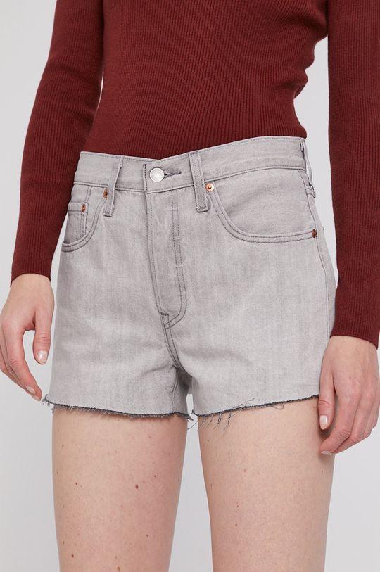 sivá Levi's - Rifľové krátke nohavice Dámsky
