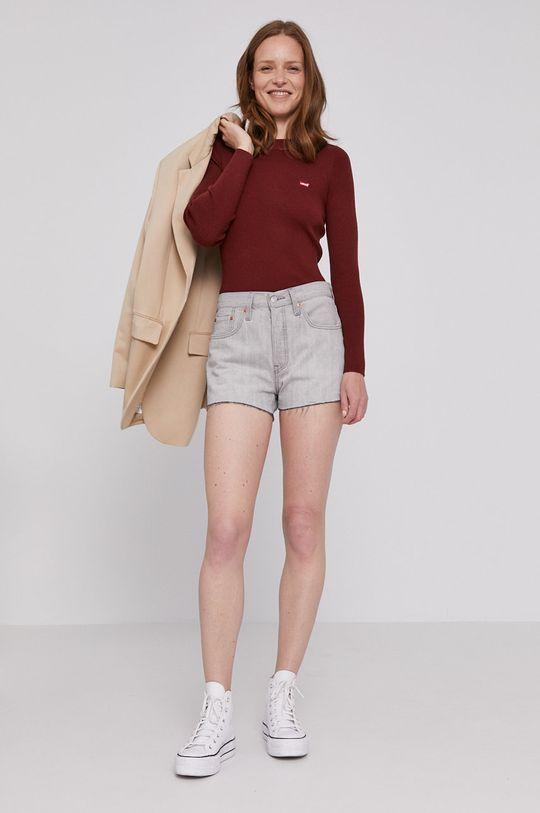 Levi's - Rifľové krátke nohavice sivá