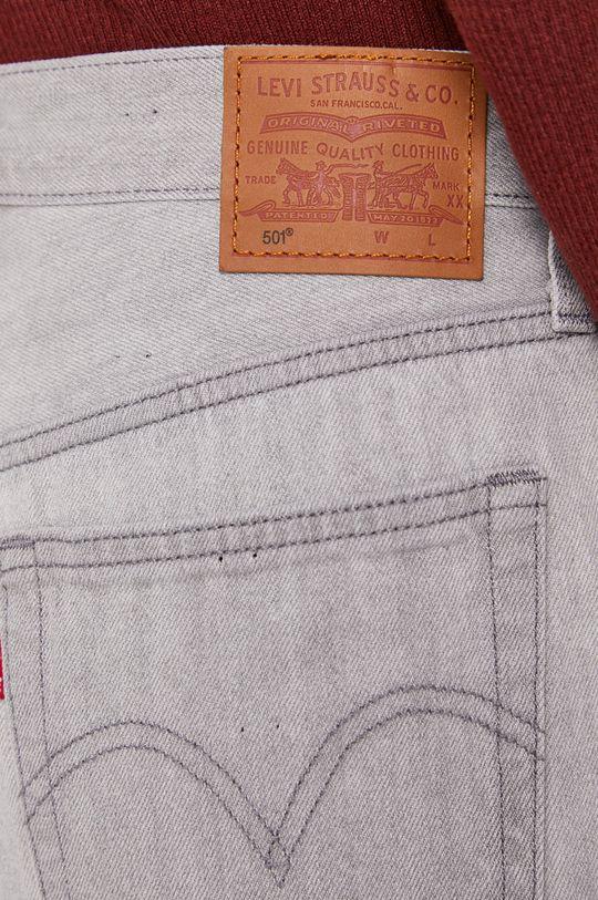 sivá Levi's - Rifľové krátke nohavice