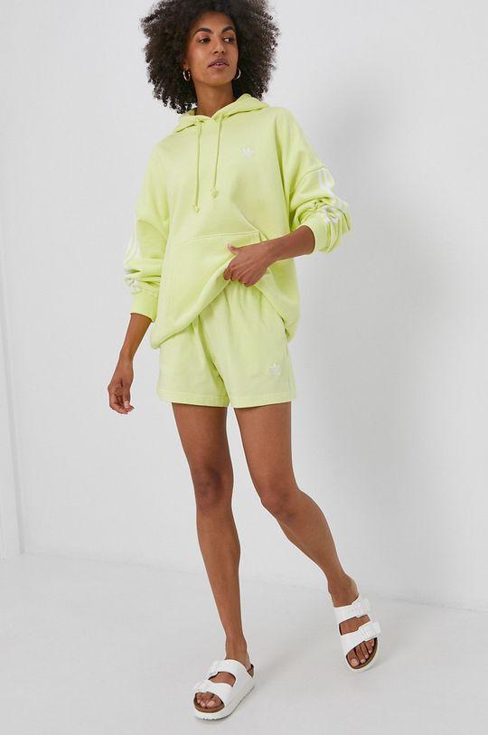 adidas Originals - Szorty jasny żółty