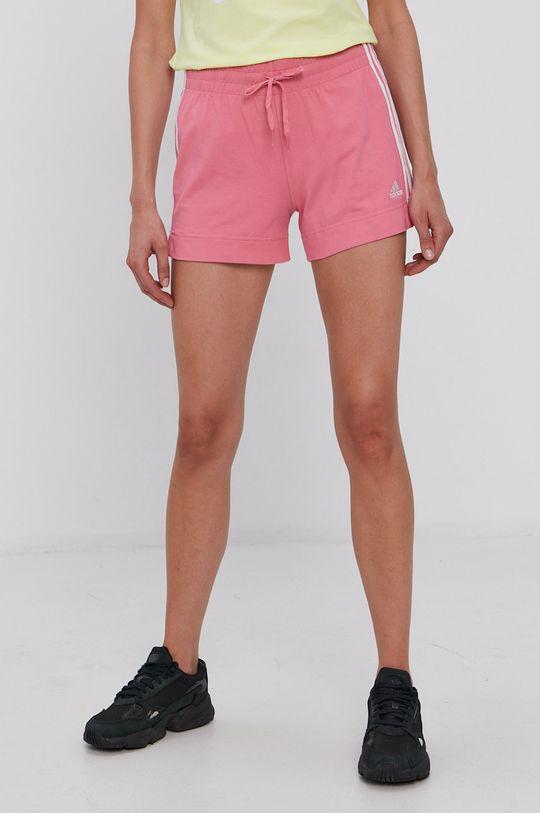 fiołkowo różowy adidas - Szorty Damski