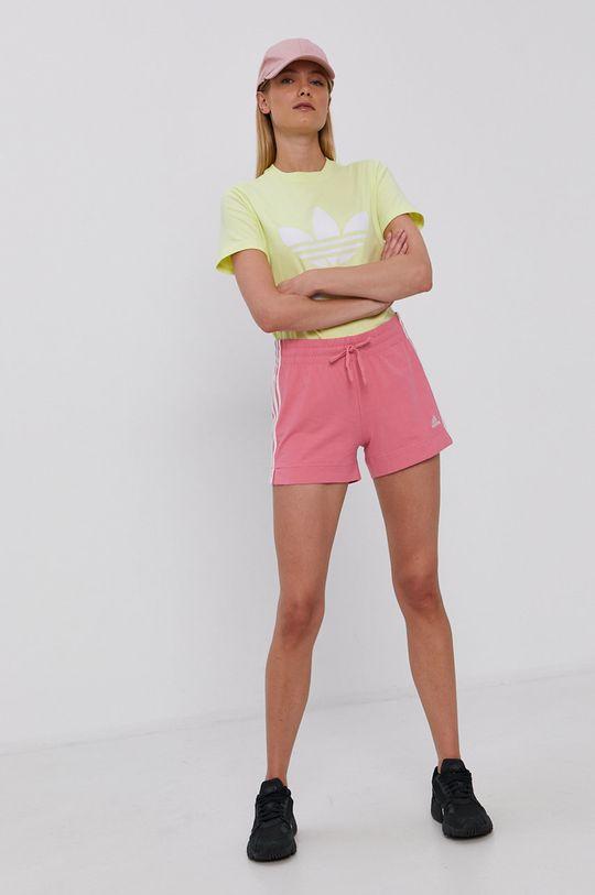 adidas - Szorty fiołkowo różowy