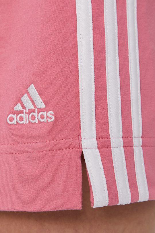 fiołkowo różowy adidas - Szorty