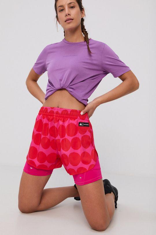rosu adidas Performance - Pantaloni scurti x Marimekko De femei