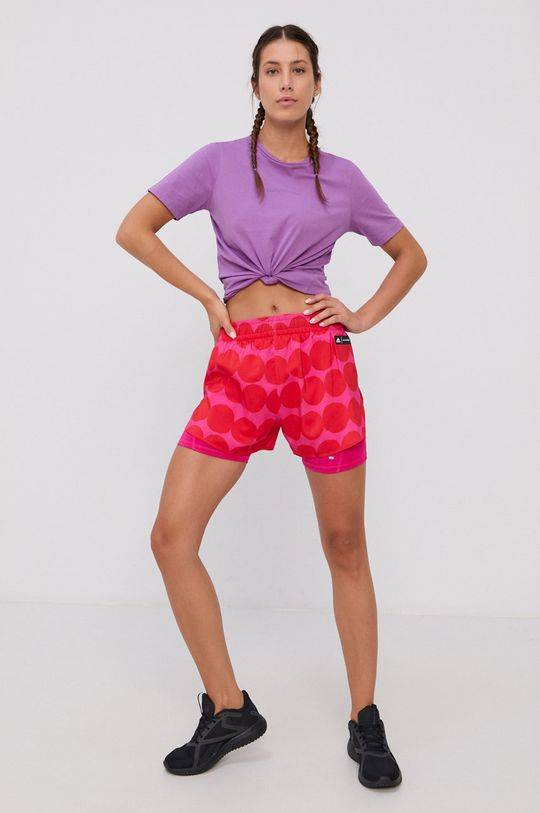 adidas Performance - Pantaloni scurti x Marimekko rosu