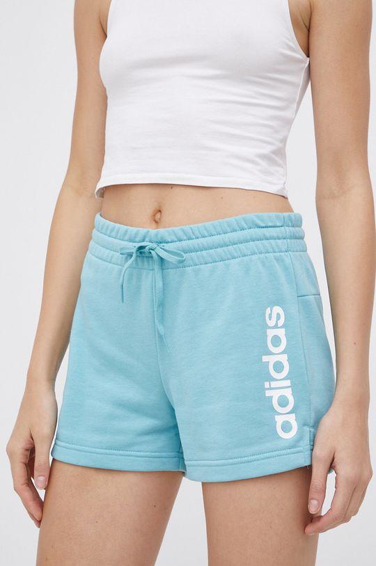 stalowy niebieski adidas - Szorty Damski
