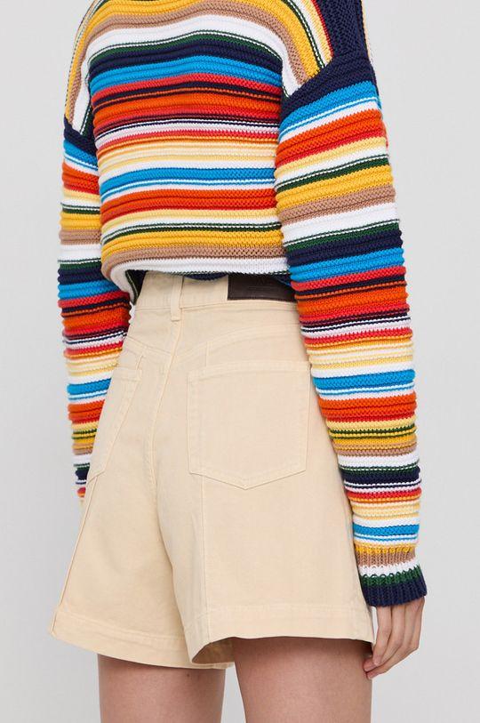 Victoria Victoria Beckham - Szorty jeansowe Materiał zasadniczy: 100 % Bawełna, Inne materiały: 100 % Skóra naturalna, Podszewka kieszeni: 35 % Bawełna, 65 % Poliester