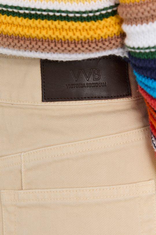 kremowy Victoria Victoria Beckham - Szorty jeansowe
