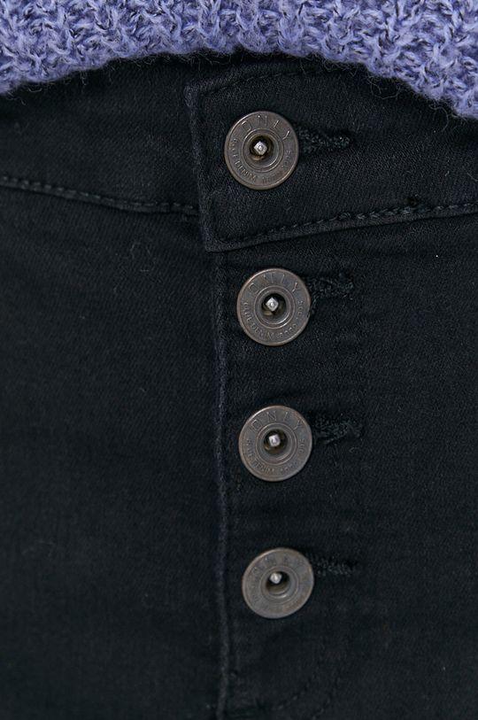 czarny Only - Szorty jeansowe