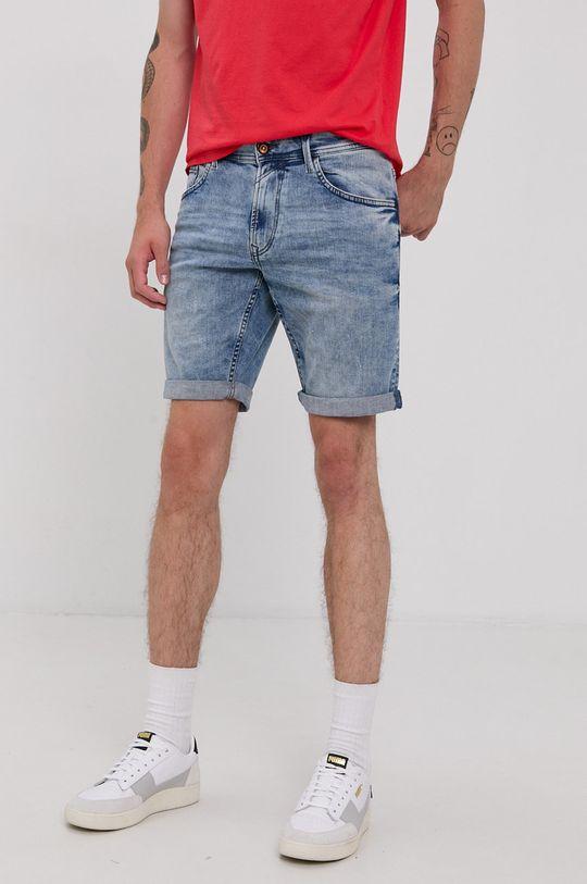 jasny niebieski Tom Tailor - Szorty jeansowe Męski