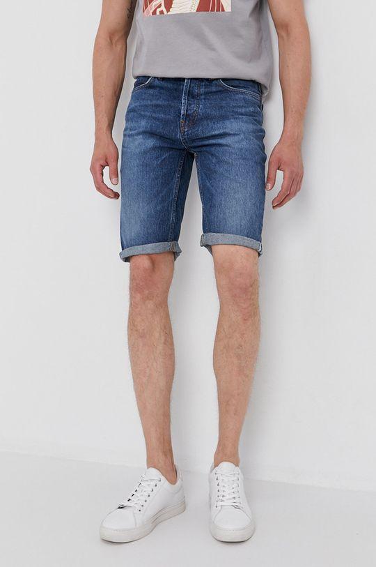 niebieski Hugo - Szorty jeansowe Męski