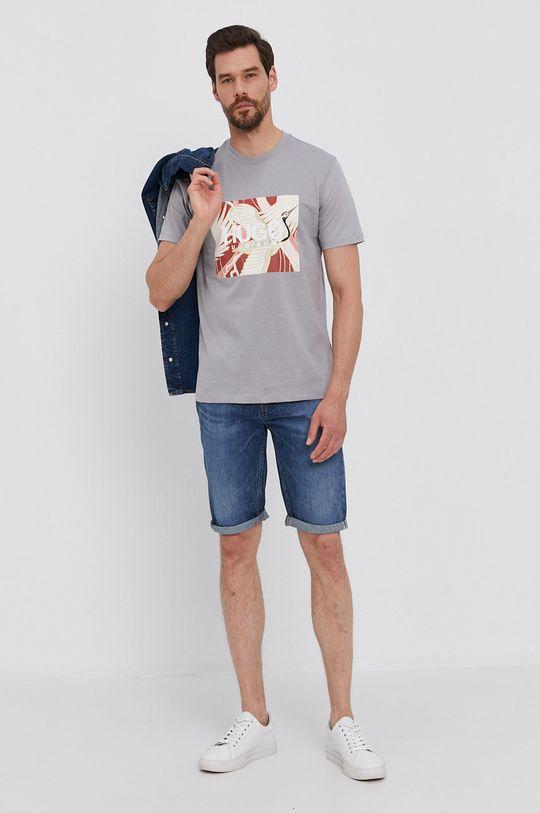 Hugo - Szorty jeansowe niebieski