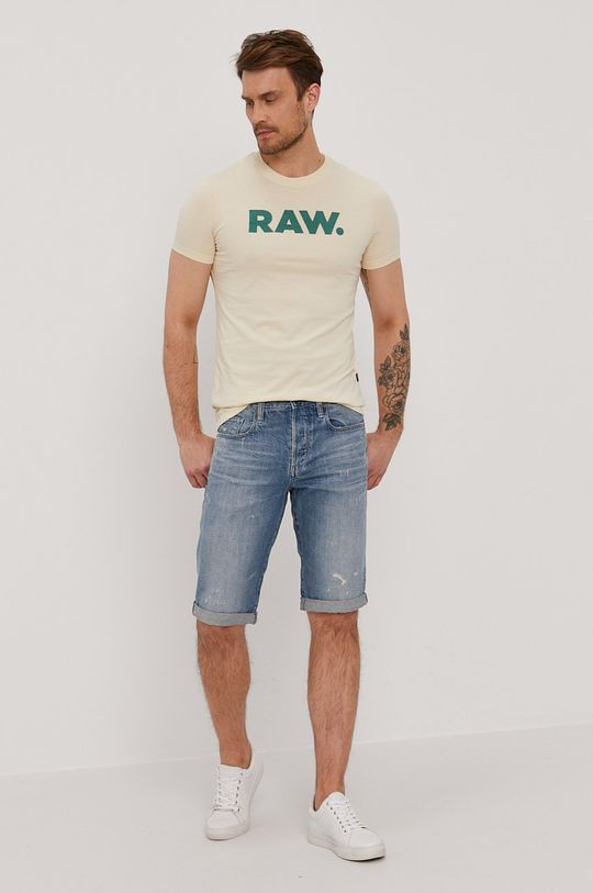 G-Star Raw - Szorty jeansowe niebieski