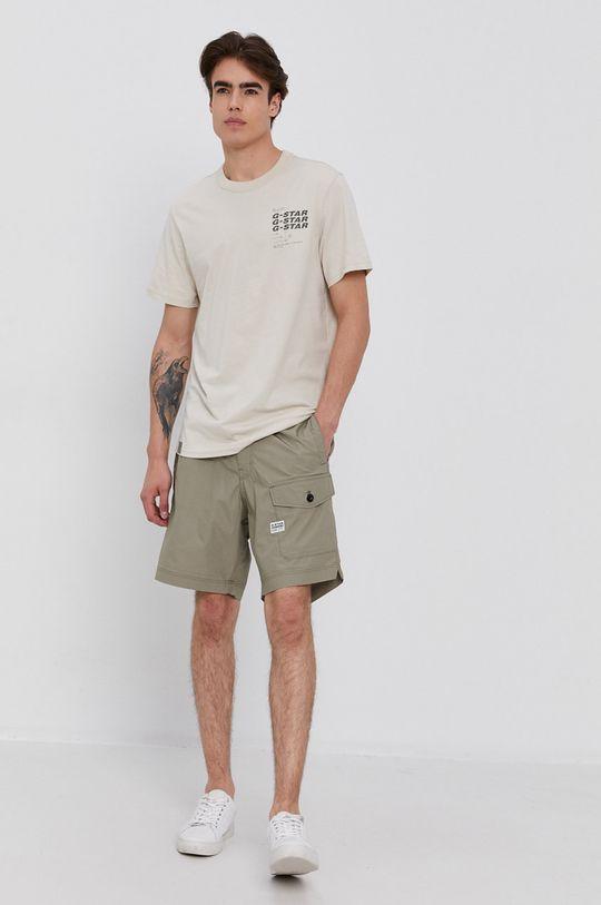 G-Star Raw - Pantaloni scurti verde murdar