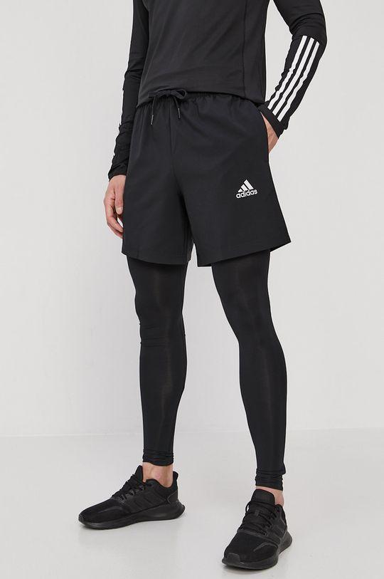 czarny adidas - Szorty Męski