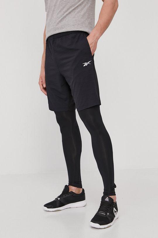 negru Reebok - Pantaloni scurti De bărbați