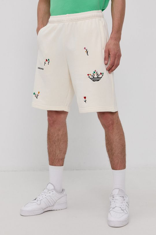 kremowy adidas Originals - Szorty Męski