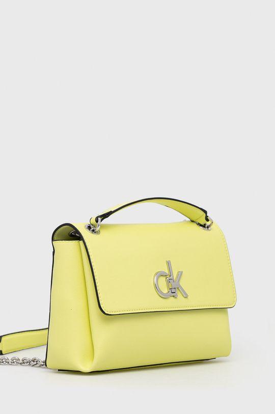 Calvin Klein - Torebka żółto - zielony