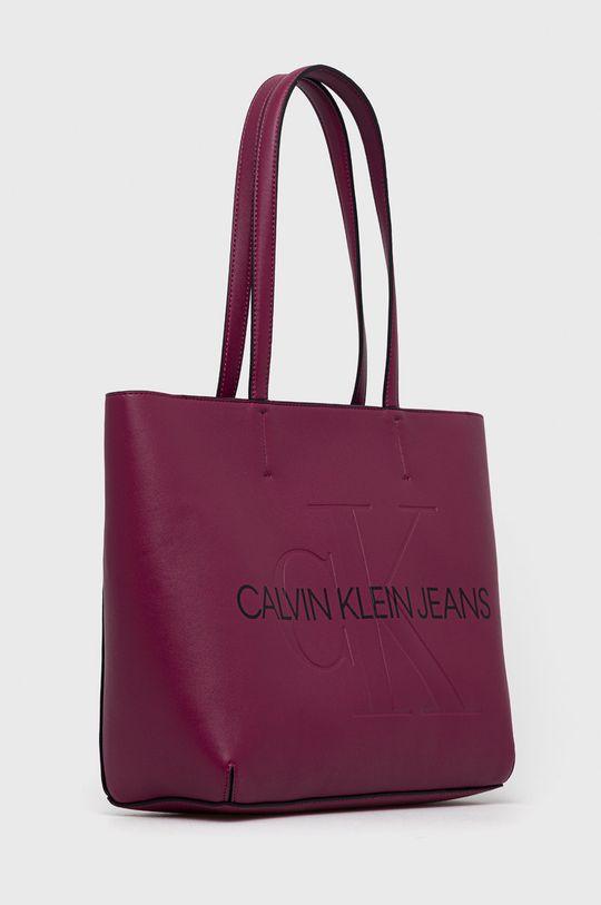 Calvin Klein Jeans - Kabelka purpurová