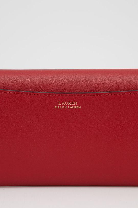 czerwony Lauren Ralph Lauren - Torebka skórzana