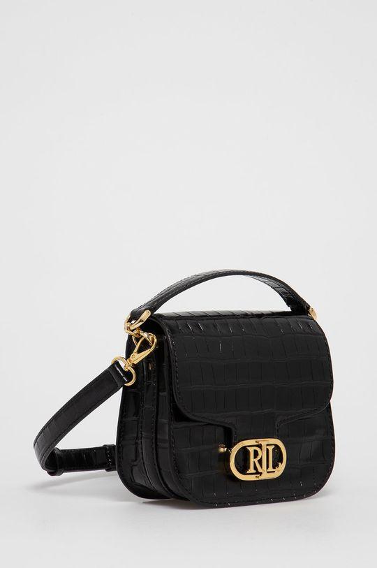 Lauren Ralph Lauren - Kožená kabelka černá
