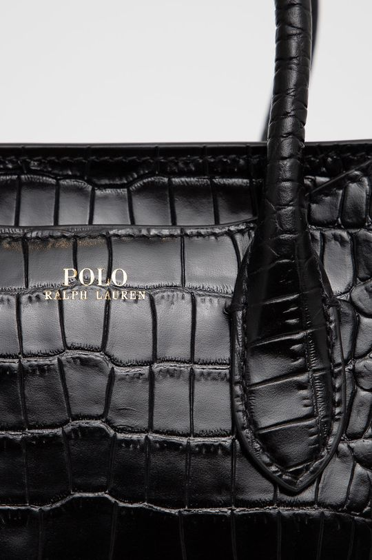 Polo Ralph Lauren - Torebka skórzana czarny