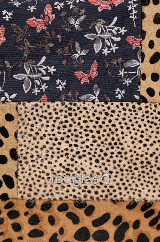 hnedá Desigual - Kožená kabelka