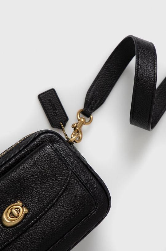 Coach - Kožená kabelka černá