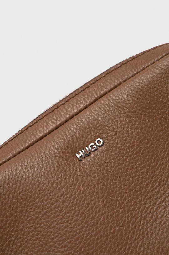 Hugo - Torebka skórzana beżowy