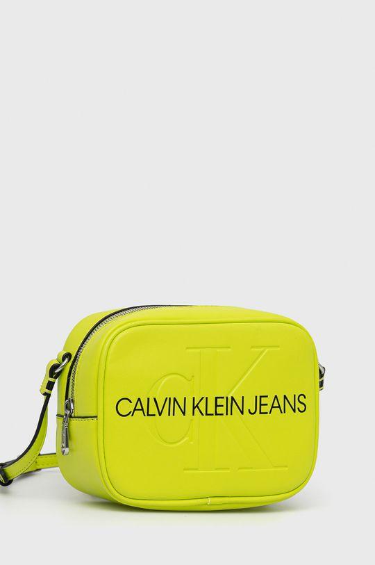 Calvin Klein Jeans - Torebka żółto - zielony
