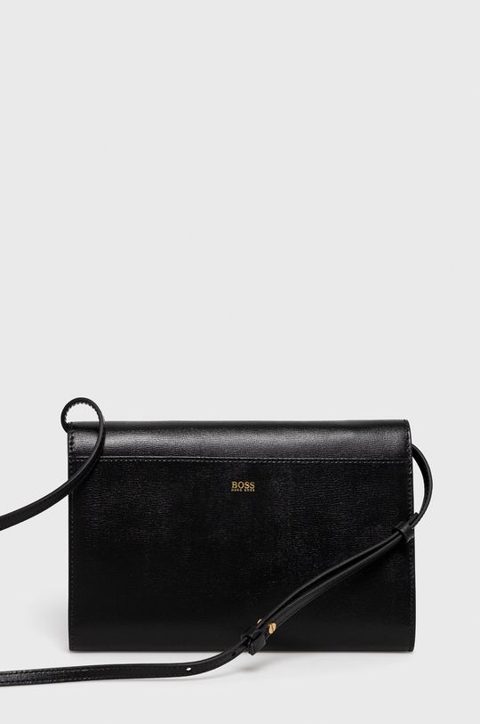 čierna Boss - Kožená kabelka