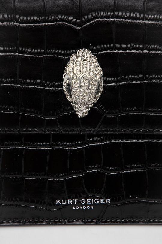 Kurt Geiger London - Torebka skórzana czarny
