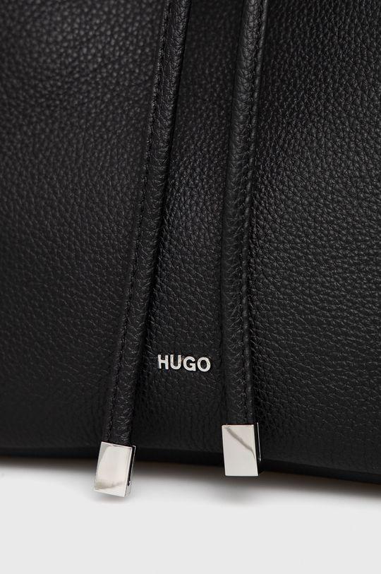 Hugo - Kožená kabelka čierna