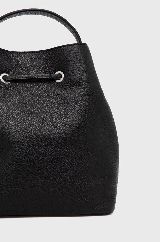 čierna Hugo - Kožená kabelka