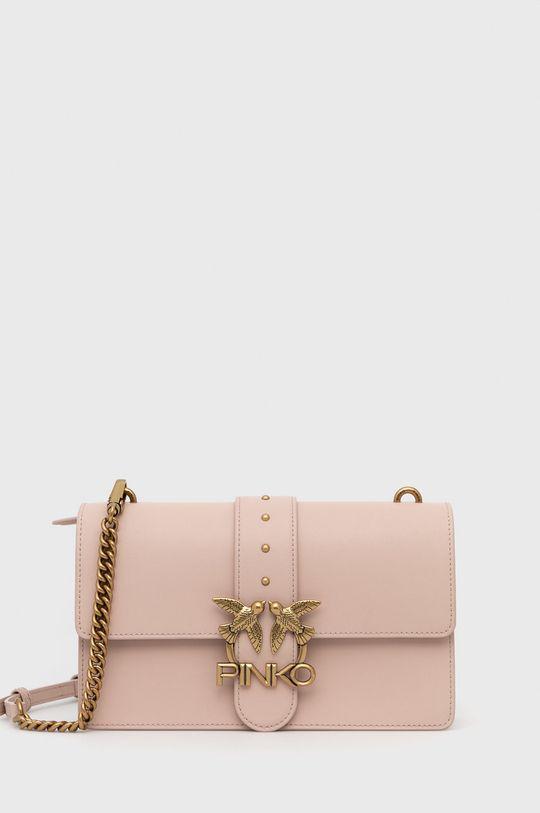pastelová Pinko - Kožená kabelka Dámský