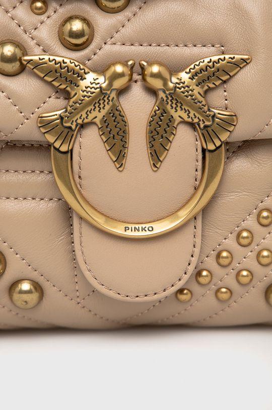 Pinko - Torebka skórzana beżowy