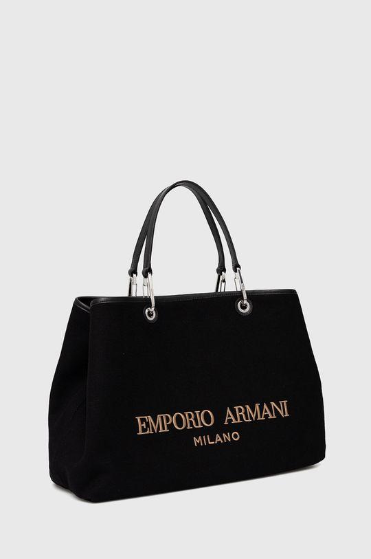 Emporio Armani - Geanta  Materialul de baza: 1% Bumbac, 6% Poliacril, 1% Poliamida, 57% Poliester , 33% Lana, 2% Viscoza Alte materiale: 100% Piele naturala Finisaj: 100% Poliuretan