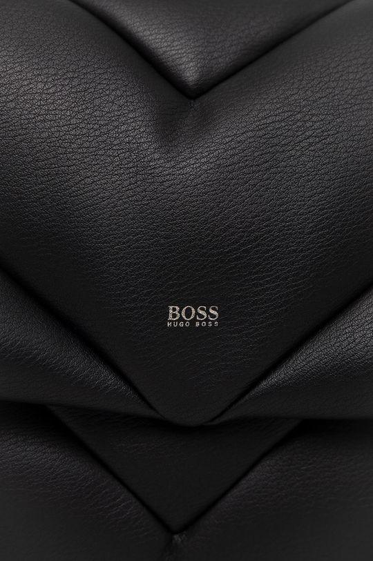 Boss - Torebka skórzana czarny