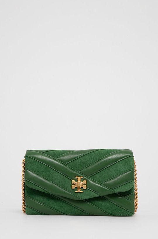 zelená Tory Burch - Kožená kabelka Dámský
