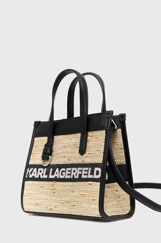 Karl Lagerfeld - Torebka 2 % Akryl, 18 % Bawełna, 16 % Poliester, 64 % Poliuretan