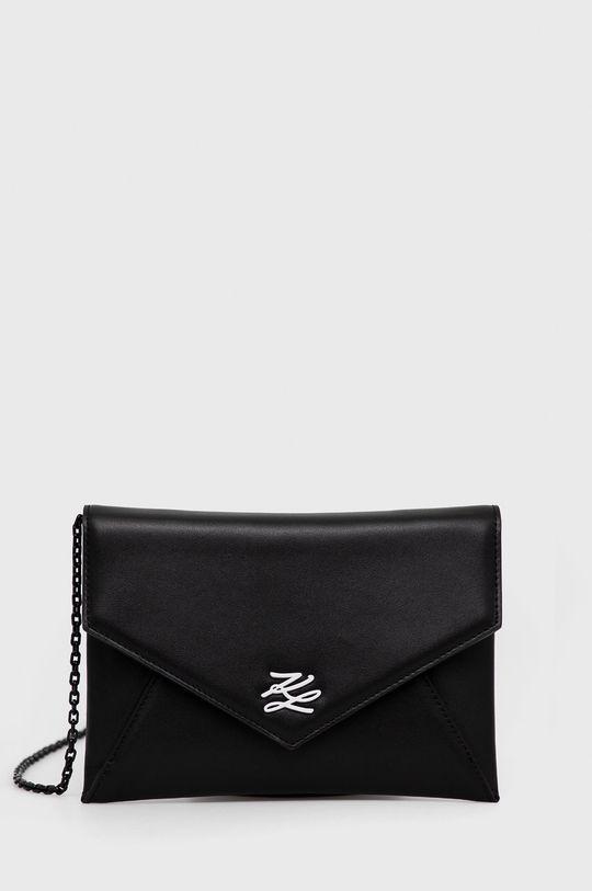 czarny Karl Lagerfeld - Kopertówka skórzana Damski