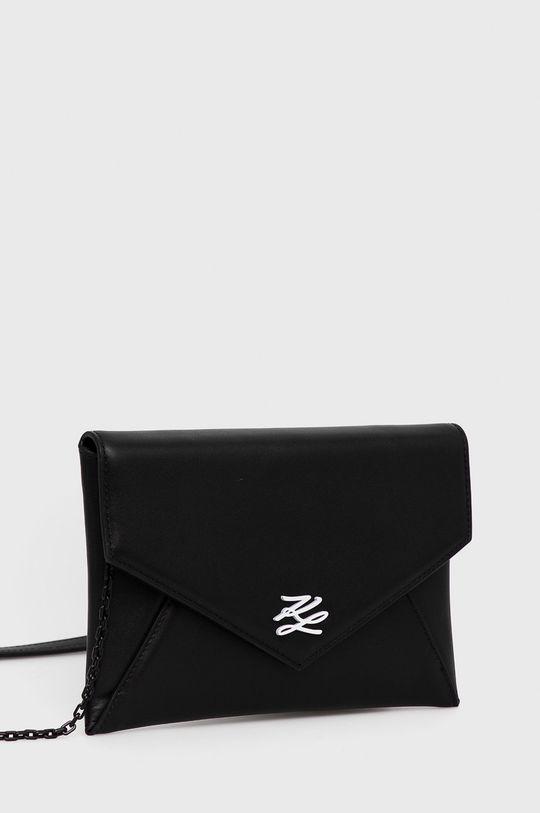 Karl Lagerfeld - Kopertówka skórzana czarny
