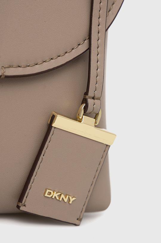 kávová Dkny - Kožená kabelka