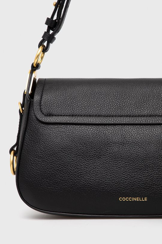 čierna Coccinelle - Kožená kabelka Bottalatino