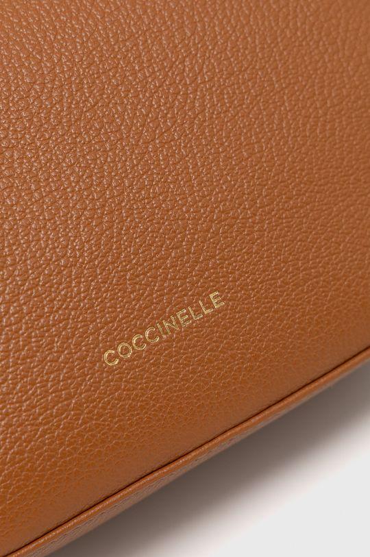 Coccinelle - Kožená kabelka Lea zlatohnedá