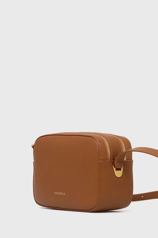 Coccinelle - Kožená kabelka Lea  Prírodná koža