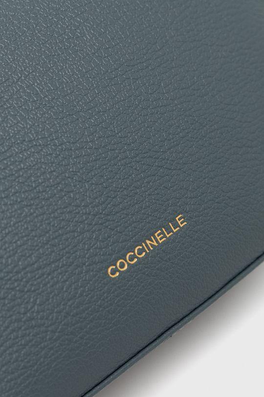 Coccinelle - Poseta de piele Lea albastru metalizat