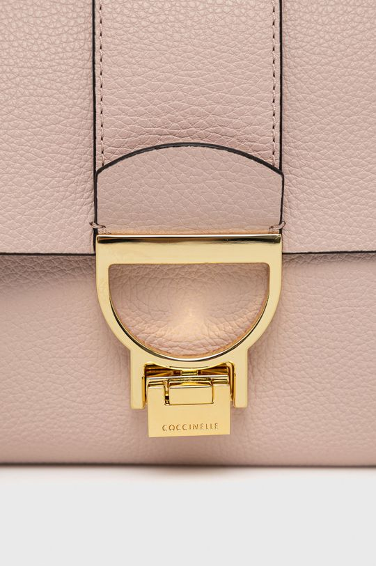Coccinelle - Poseta de piele Arlettis roz pastelat